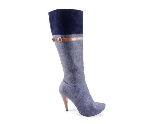 botas grises con azul dionella