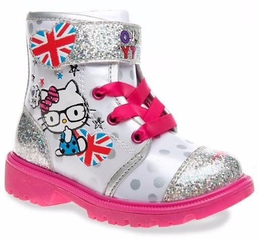 f2930a0bccd2d Botas Hello Kitty Para Niñas Pequeñas Plateadas Con Rosas -   759.00 ...