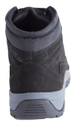botas hombre cuero impermeables deportiva caminar - negra
