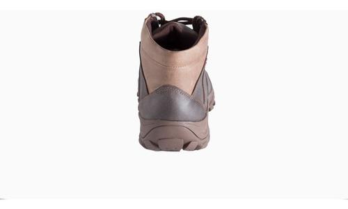 botas hombre deportivas impermeables cuero nacional - marrón