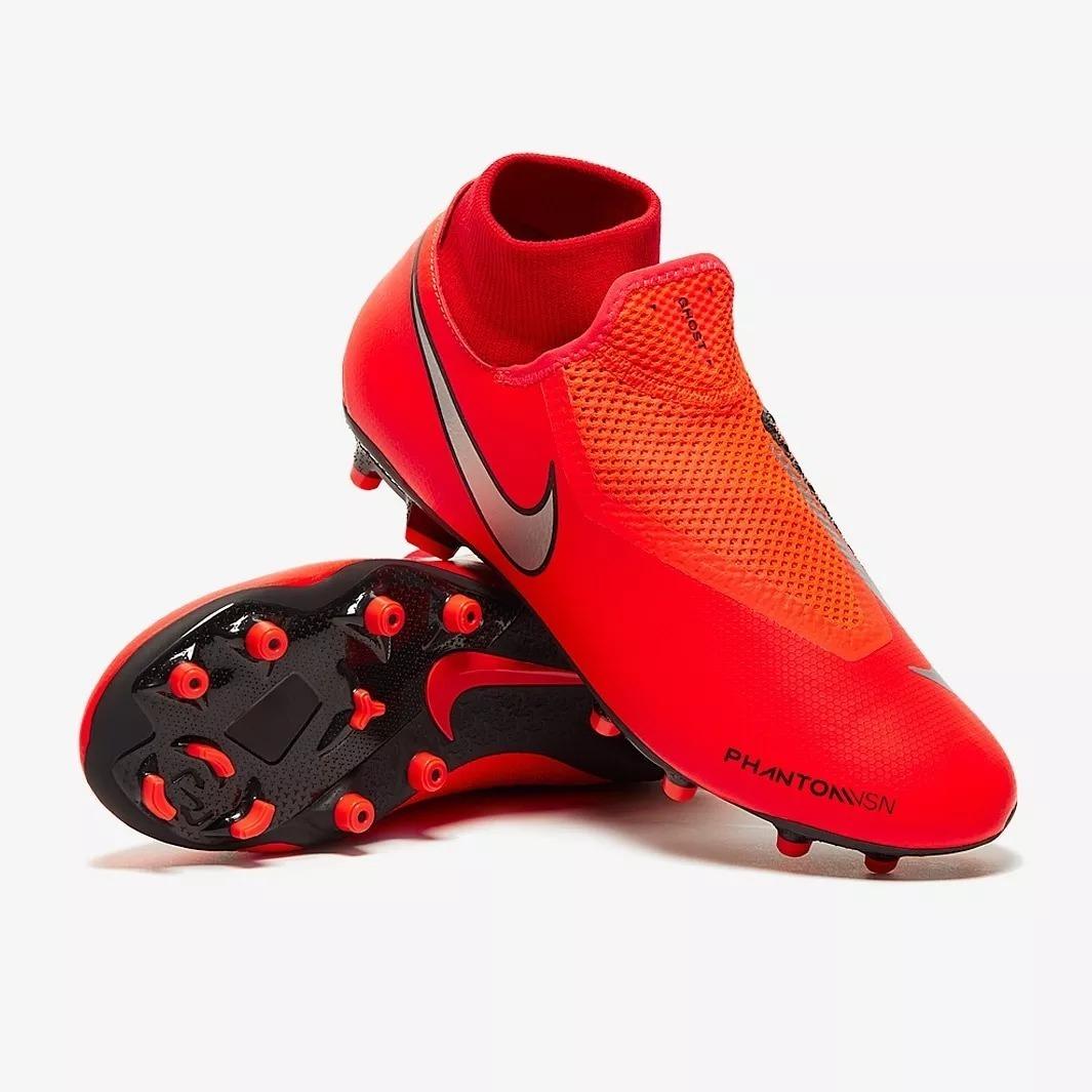 big sale 4f396 09916 Botas Hombre Nike Phantom Rojo Taquete Tachon Original