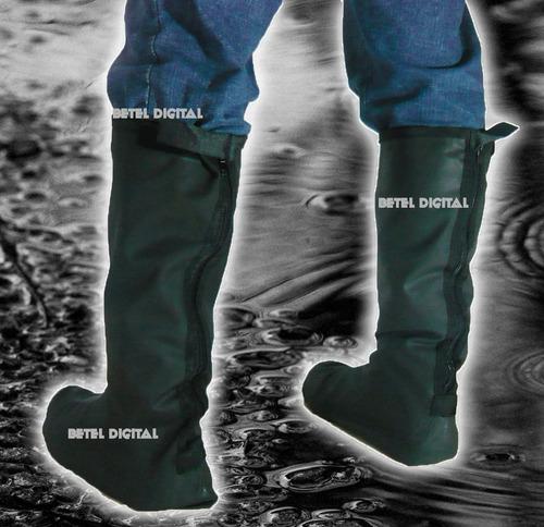 botas impermeable cubre calzado  moto en  media pierna