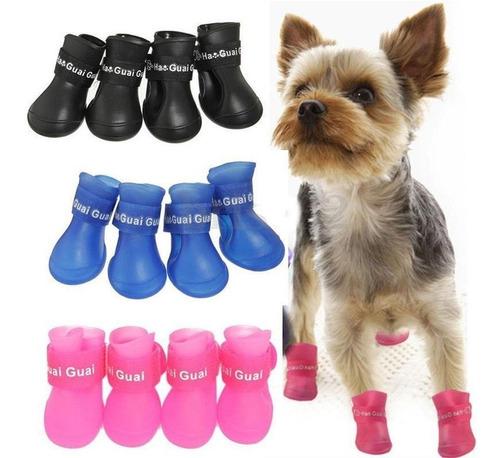 botas impermeables lluvia para perros gatos