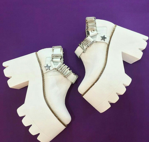 zapatos de separación gama exclusiva estilo novedoso Botas Importadas De Cuero Extra Plataforma Blancas 2016