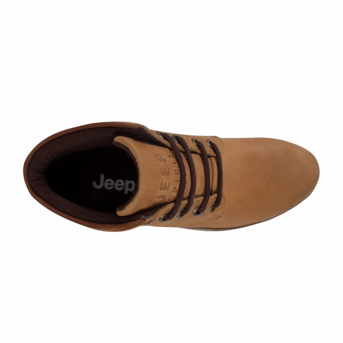 botas jeep  para caballero color miel casuales piel id196