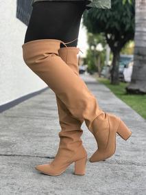 Botas Larga Mujer Tacón Abajo Rodilla|durazno