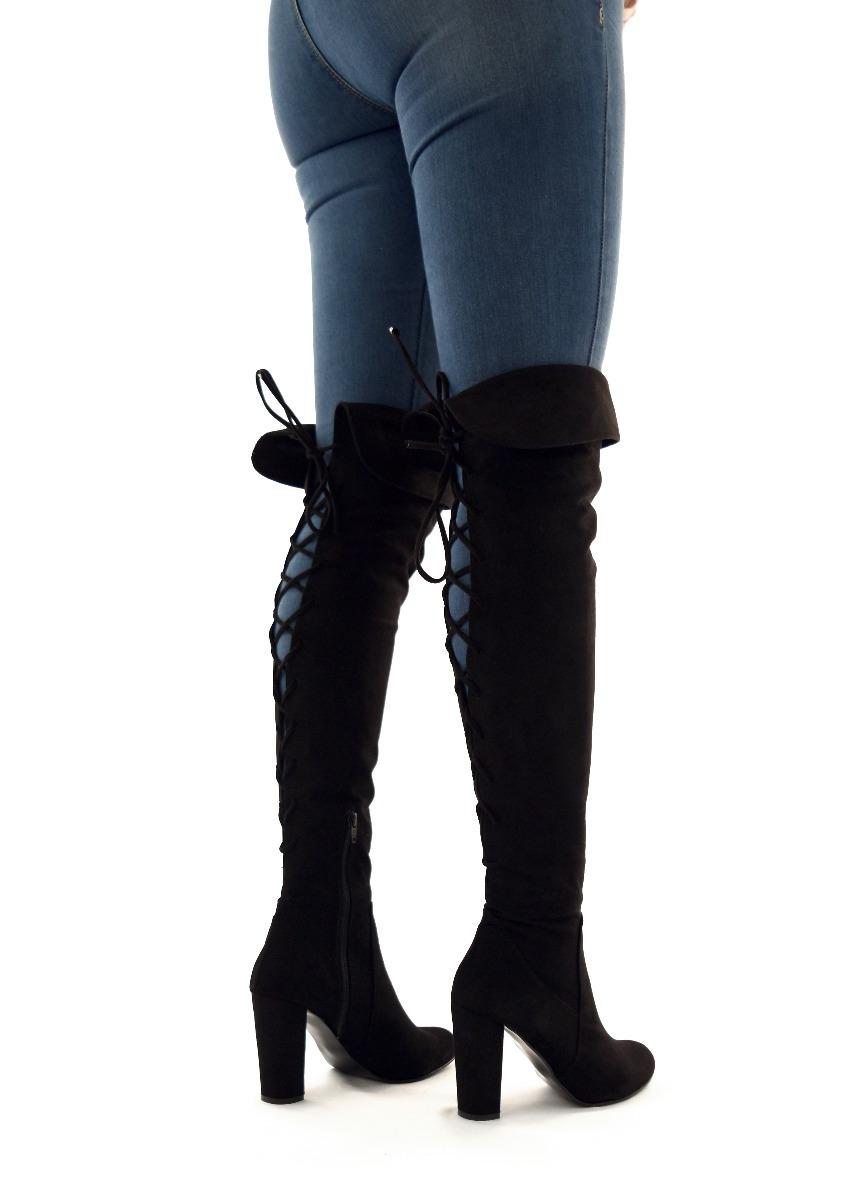 582d7148 botas largas mujer tacon 10 altas doblez rodilla 2070 negro. Cargando zoom.