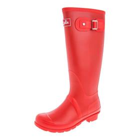 Botas Lluvia Altas Mujer Wellington Bottplie- Rojo Matte