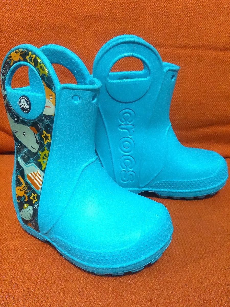 timeless design f5762 96ed6 Botas Lluvia Crocs Handle It Sea Life No. 13 Saldo C/detalle