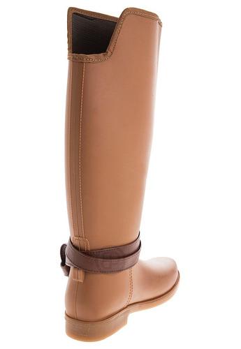 botas lluvia impermeable golden buckle bottplie - miel