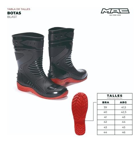 botas lluvia impermeable moto mac blast solomototeam