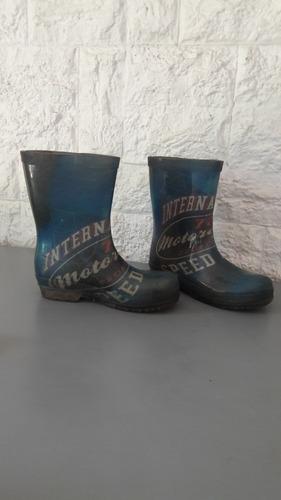 botas lluvia niño usadas número 29/30 - entrego en olivos