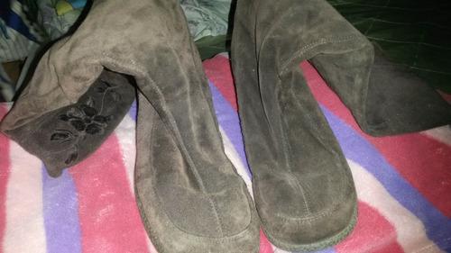 botas marrones para dama, talla 39