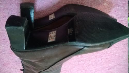 botas media caña n°37 son 100% cuero-suela febo-exelentes