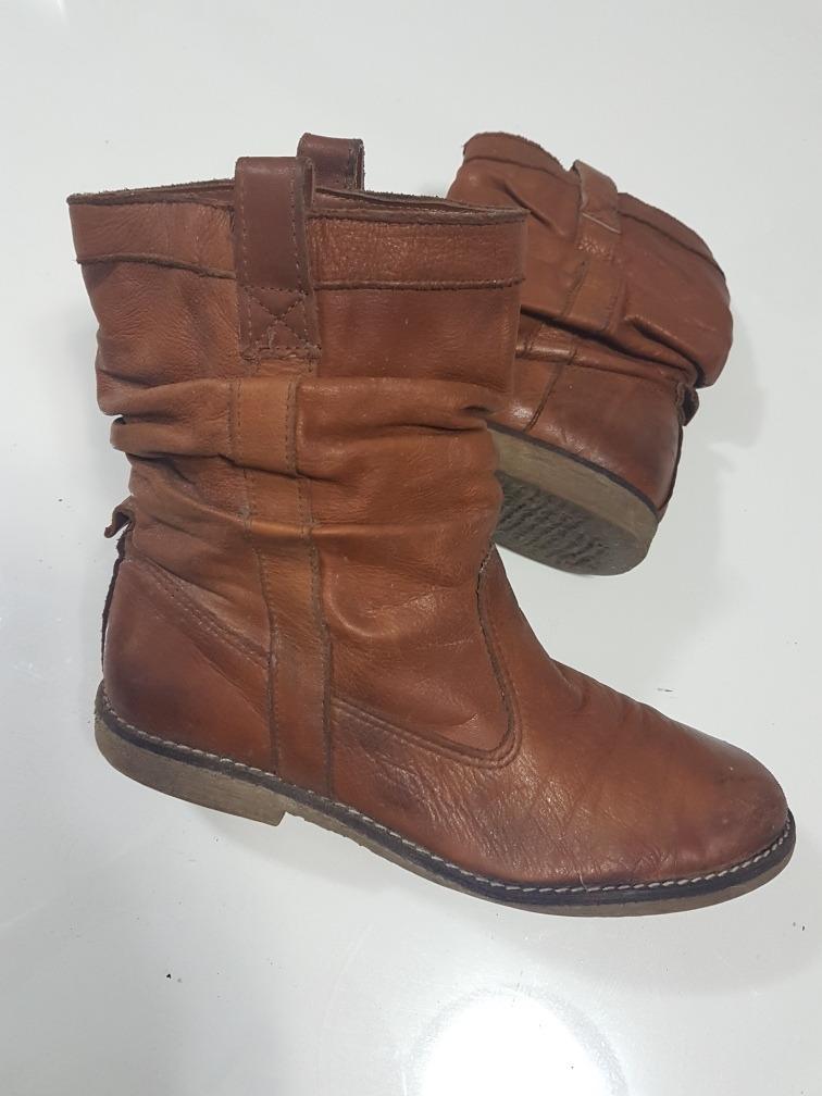 0a3fd1162 botas media caña simil cuero marrones talle 37. Cargando zoom.