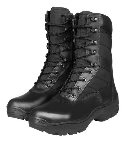 botas militares guerreras cuero lona