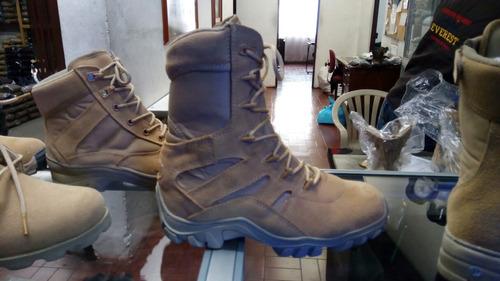 botas militares soldado swat color arena y camuflado