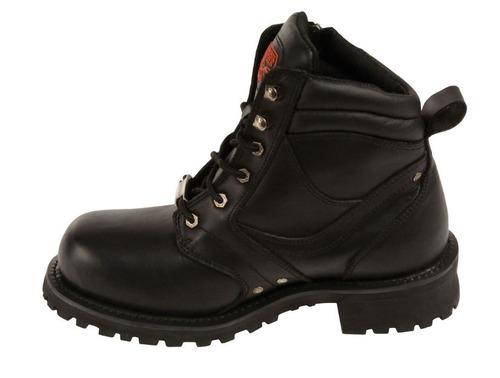 botas milwaukee cuero hombre zíper lateral punta plana 11.5