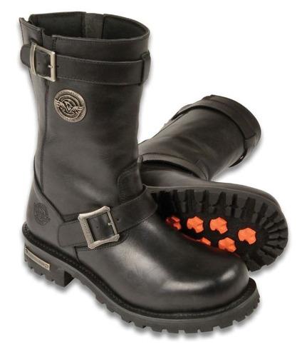 botas milwaukee p/hombre d/cuero clásica negras regular 10.5
