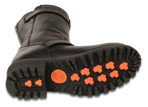 botas milwaukee p/hombre d/cuero clásicas negras regular 9.5