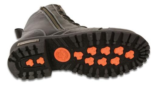 botas milwaukee p/hombre de cuero c/puntadas regular 11