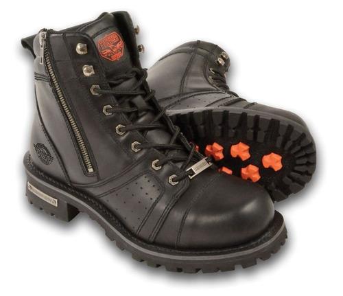 botas milwaukee p/hombre de cuero c/puntadas regular 14