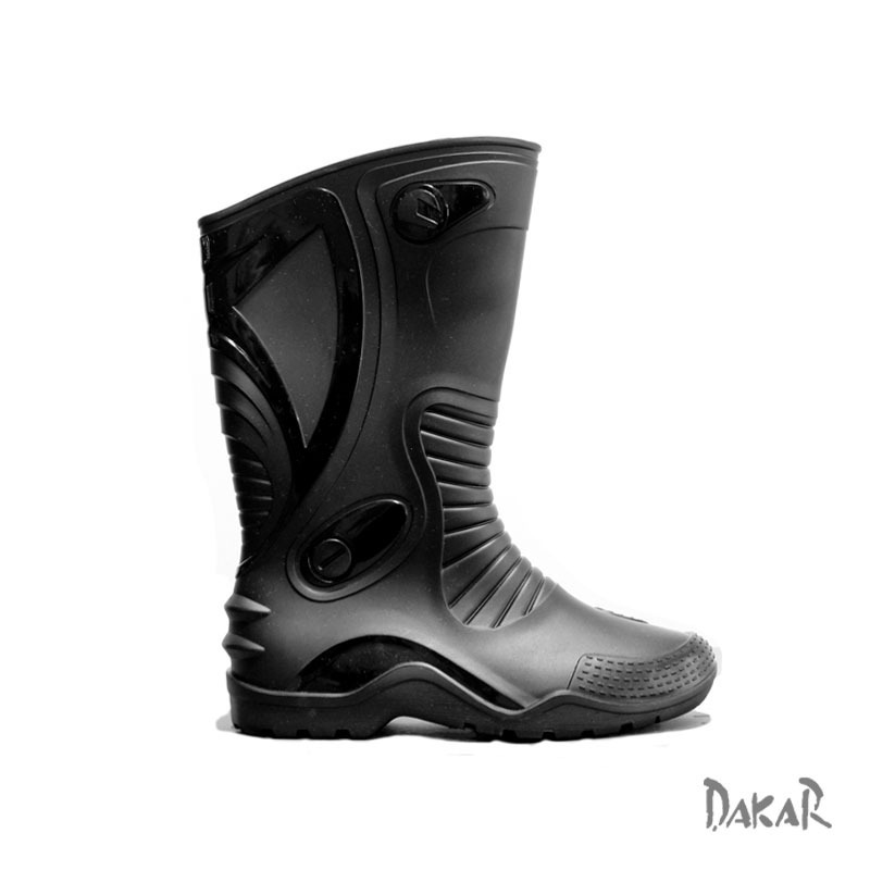ba5a97ca0da botas moto dakar negra impermeable pvc motociclista 7 pares. Cargando zoom.