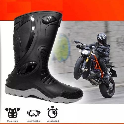 botas moto motociclistas caucho 100% impermeables
