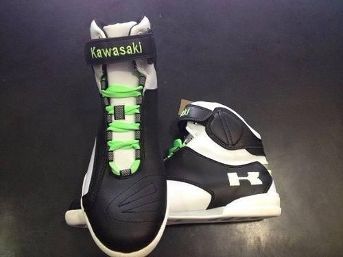 botas moto pista speed boots kawasaki