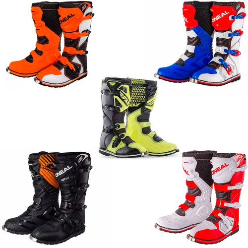botas motocross enduro oneal atv fly tech comp 5 rider pro