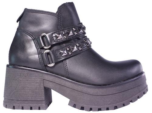 botas mujer botinetas botitas 100% cuero tachas tops zapatos