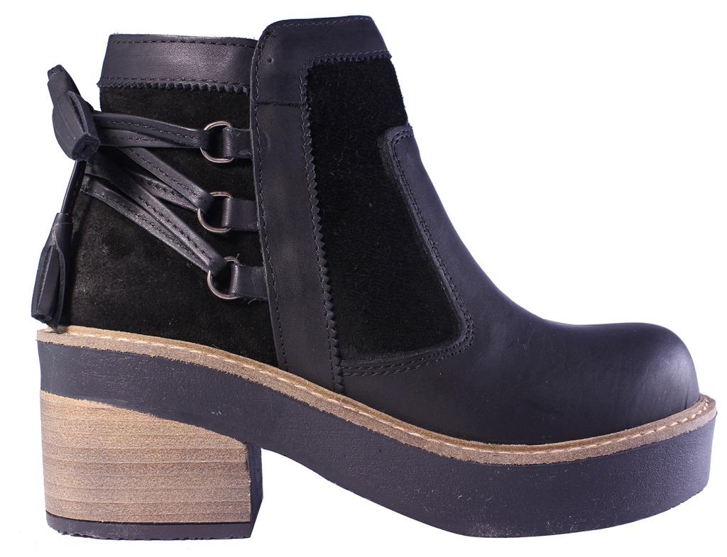 Tops Botas Zapatos Flecos Mujer Botinetas Botitas Cuero 6gfyb7