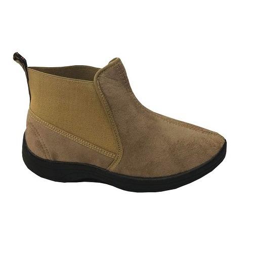 botas mujer dama - gowell gamuzadas con elástico art. 450