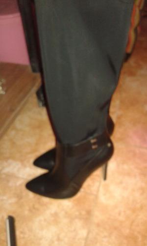 botas mujer importadas de flecos negras españolas