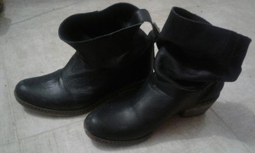 botas mujer negras liotta cuero vacuno talle 37 envios