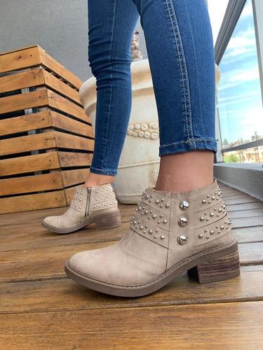 botas mujer zapatos botitas botinetas dama tachas moda 43