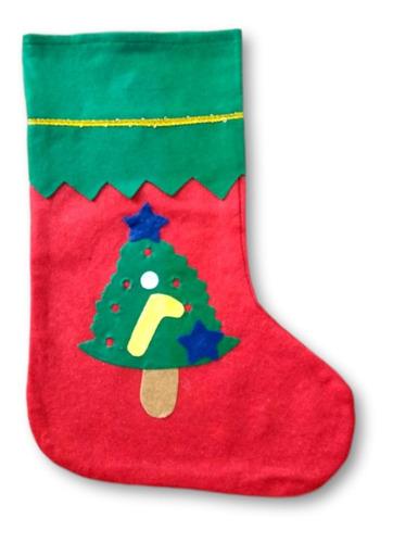 botas navideñas paquete 12 pz surtido económico fieltro sant