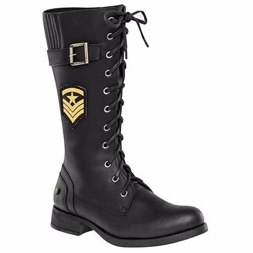 botas negras  de 33 cm de altura
