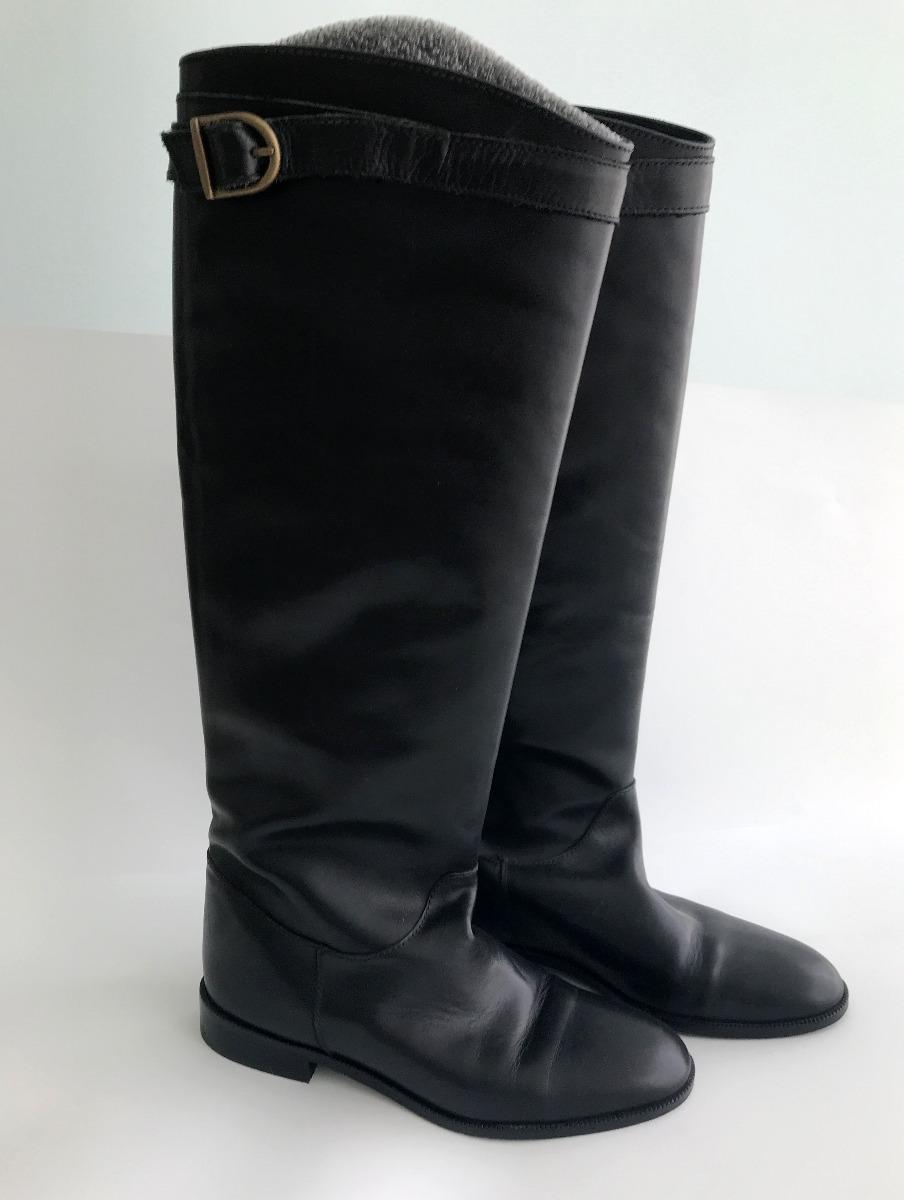 23557e6c2d5 botas negras estilo hípico massimo dutti. Cargando zoom.