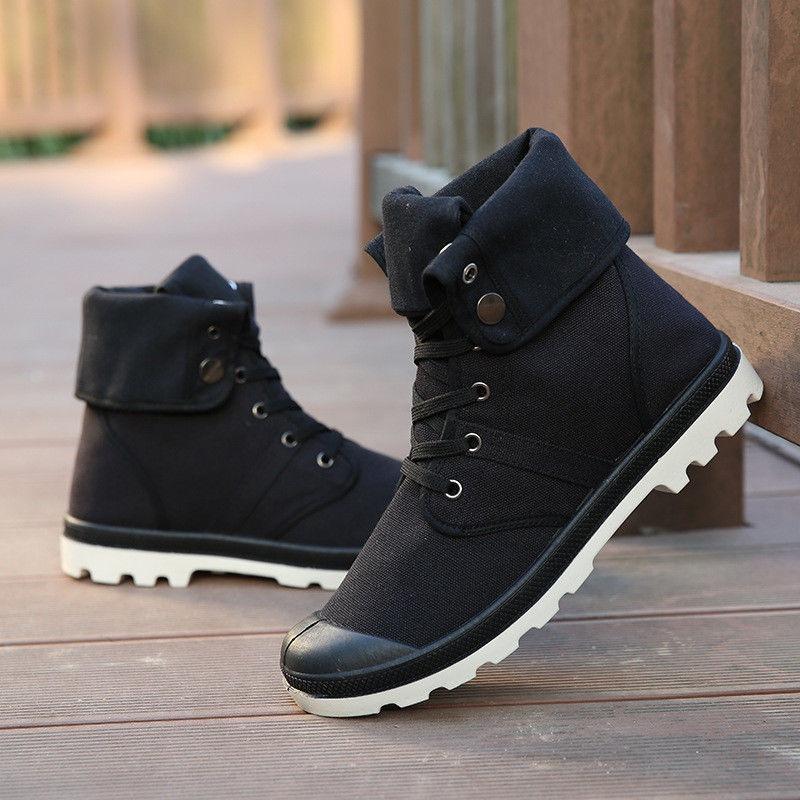 botas negras hombre