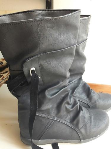 botas negras forradas n°37