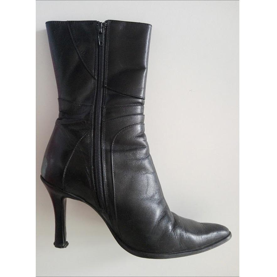 c0d4cd0293a botas negras media caña mujer cuero usadas nro 37. Cargando zoom.