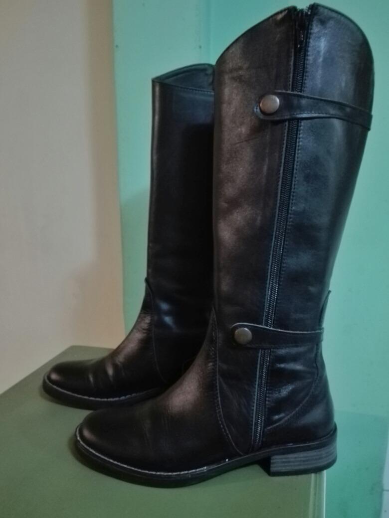0aa683881c5 botas negras mujer caña alta cuero número 35. Cargando zoom.
