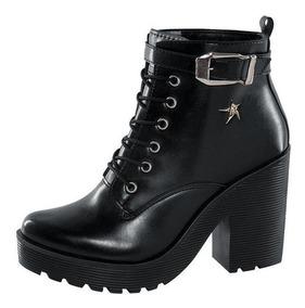 mejor baratas Zapatos 2018 nueva productos calientes Botas Negras Rocker Tacón Cuadrado High Heel Gloria Trevi