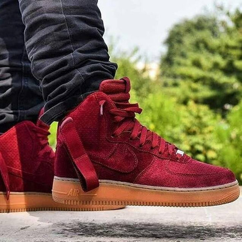 nike air force hombre rojas