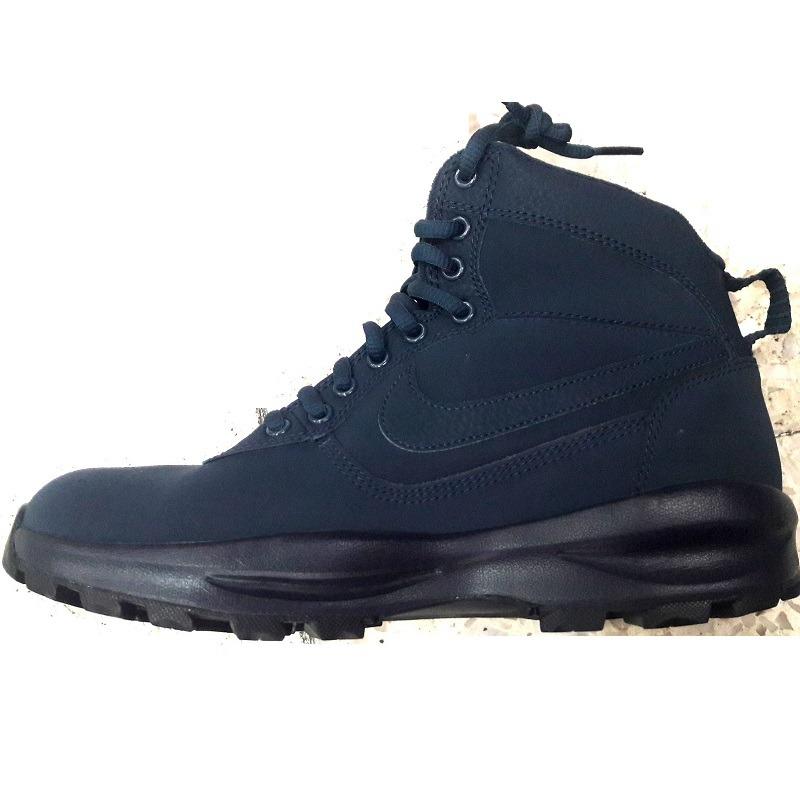 ef484bea35c botas nike air manoadome piel y gamuza azul waterproof. Cargando zoom.