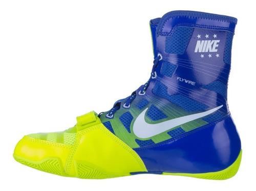 botas nike hyperko varios azul verde box