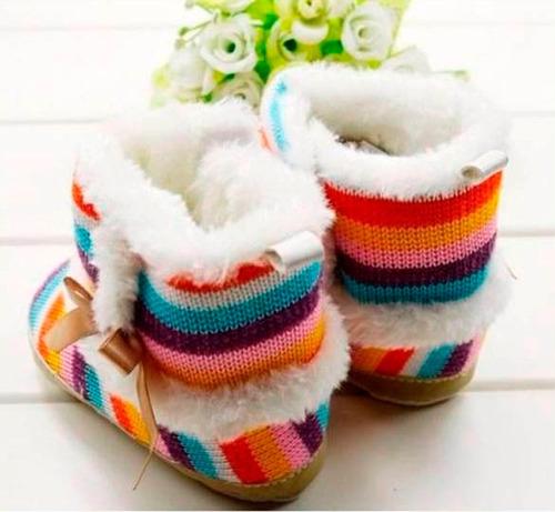 botas  para bebe calientitas de colores babynova bt