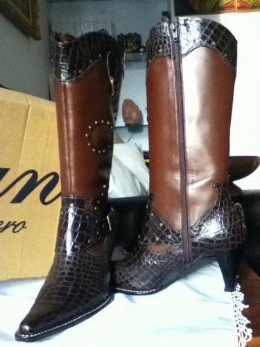 botas para damas 100% piel y cuero
