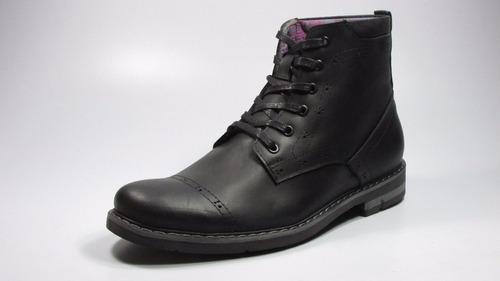 botas para hombre glenn nobuk negro en cuero